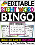 sight word bingo autofill